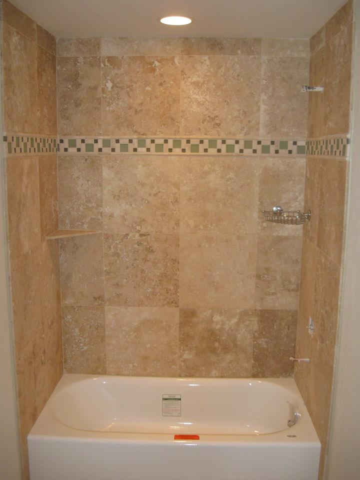 "18"" x 18"" travertine shower surround and bath floor - Anthem Ranch, Broomfield"